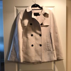 Women's cream cape jacket size M Ann Taylor